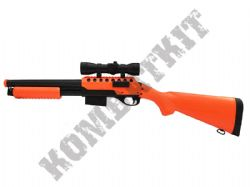 M47A2 Tactical Airsoft BB Shot Gun Black and Orange